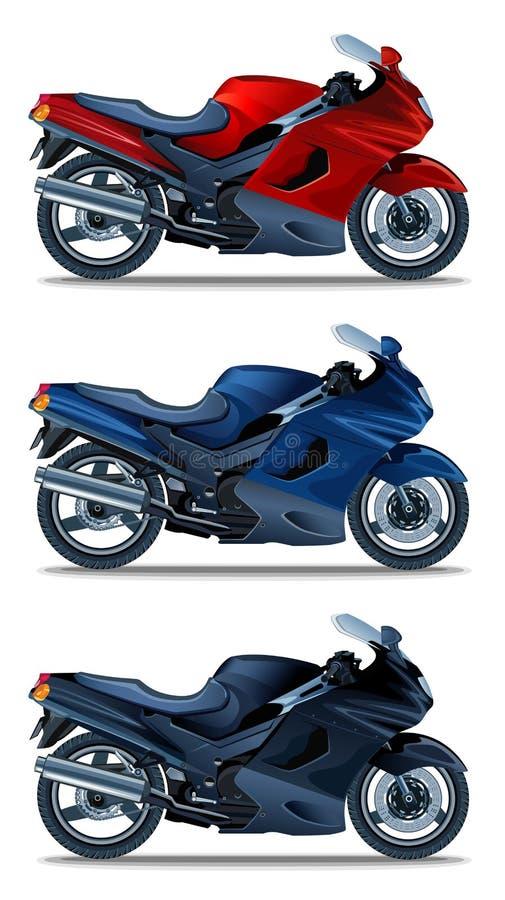 Motorbike royalty free illustration