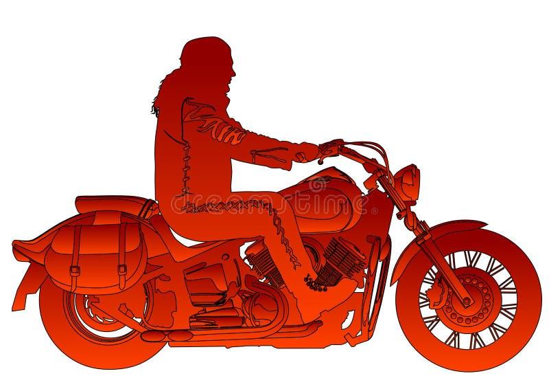 motorbike royaltyfri illustrationer