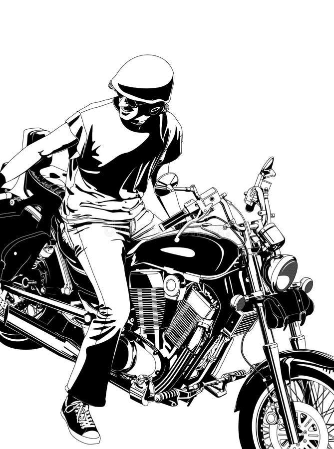 Download Motorbike stock vector. Illustration of drive, illustration - 22334483