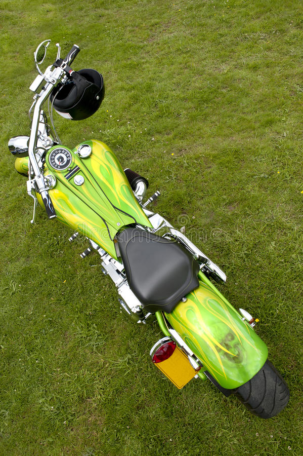 Download Motorbike stock image. Image of chopper, customised, custom - 26431503
