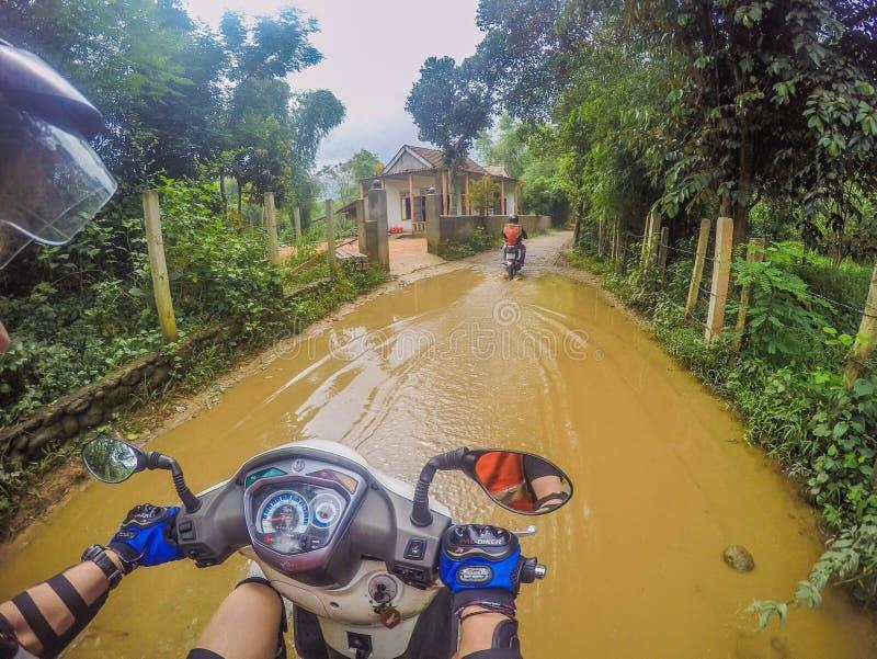 Motorbike adventure. Motorbike tour in Vietnam stock images