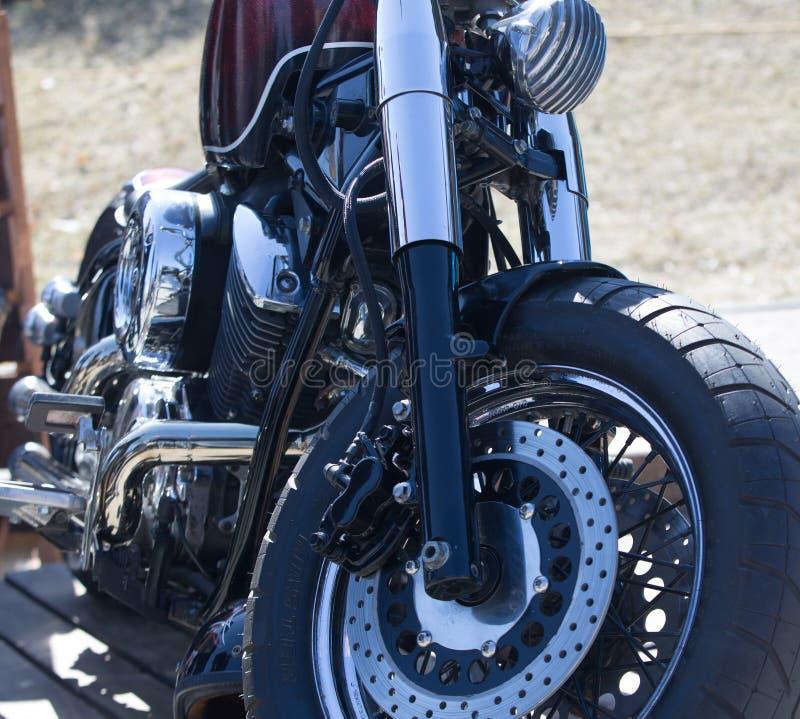 Motorbike engine. chrome. Harley davidson. stock image