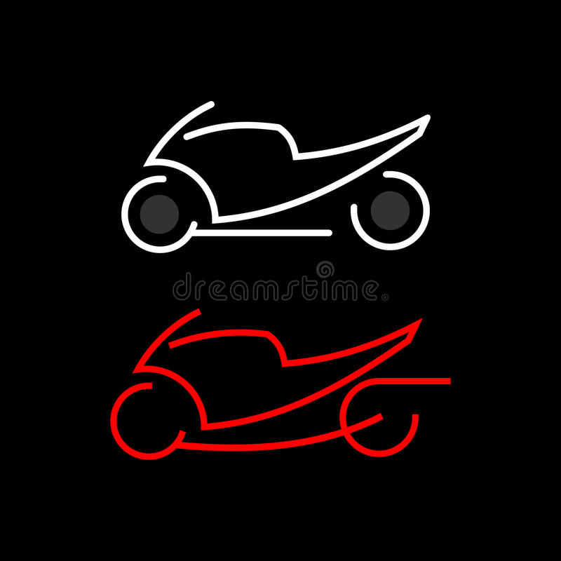 Download Motorbike icon stock vector. Image of chopper, outline - 20602909