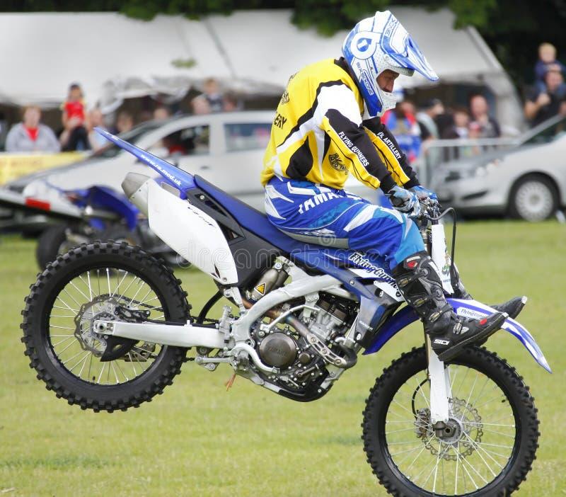Motorbike performing stunts