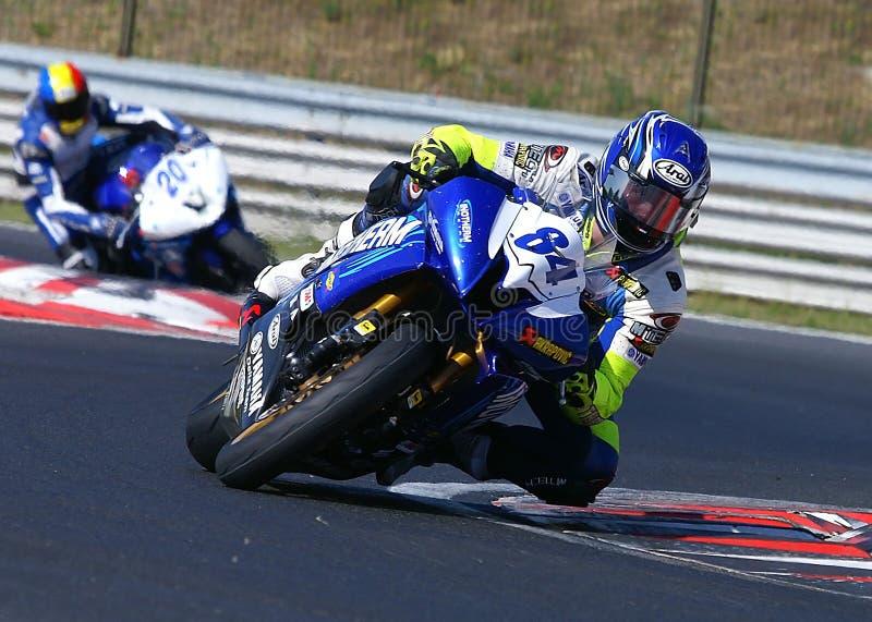 Motorbike racing stock images