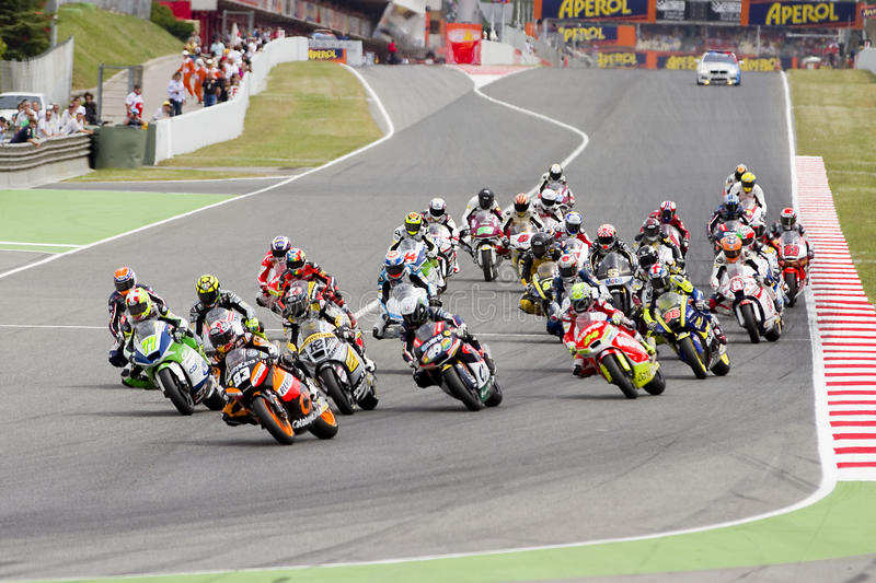 Motorbike racing stock images