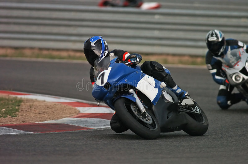Motorbike racing I royalty free stock photo