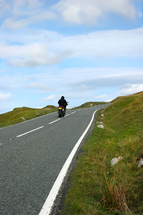 Download Motorbike Rider stock image. Image of empty, cloud, free - 1899801