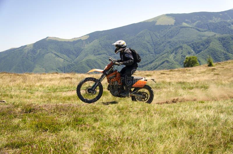 Motorbike rider stock photo