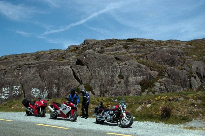 Motorbike tour 1. Motorcyclists out on a day of touring the country stock photography