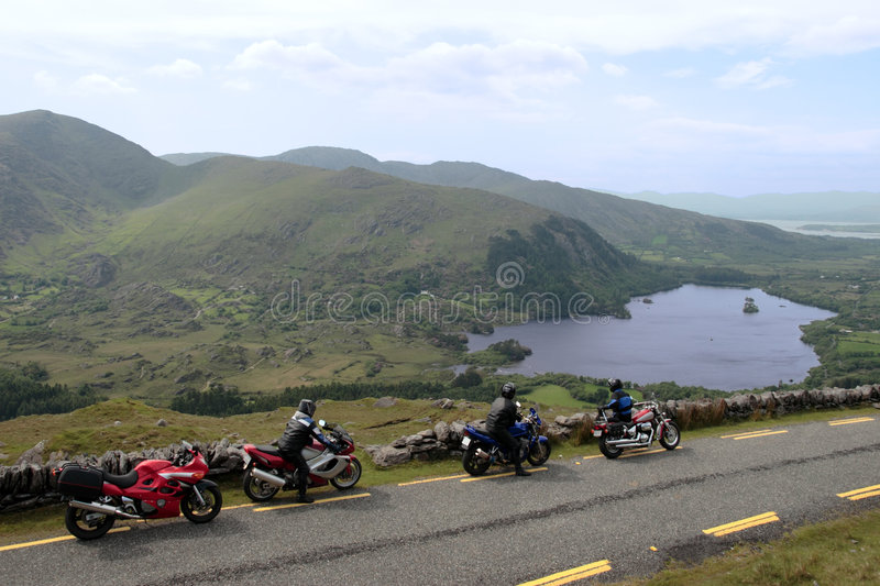 Motorbike tour 2. Motorcyclists out on a day of touring the country stock image