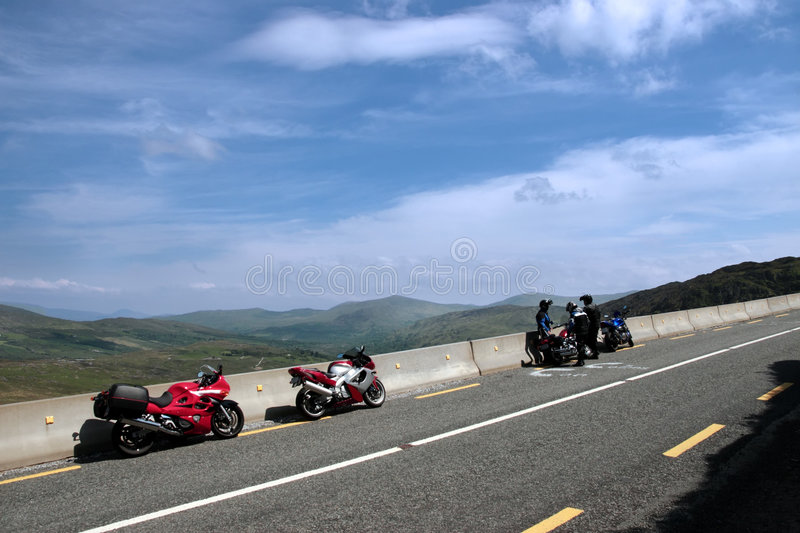 Motorbike tour 4. Motorcyclists out on a day of touring the country royalty free stock photography
