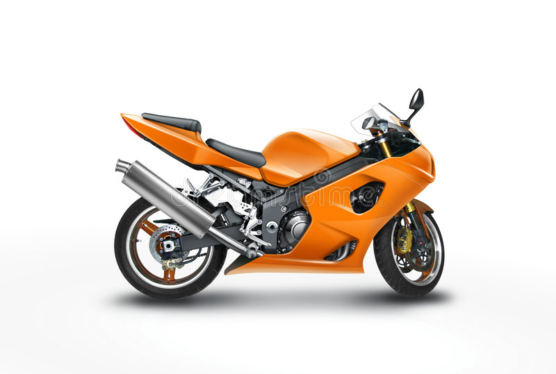 motorbikeorange stock illustrationer