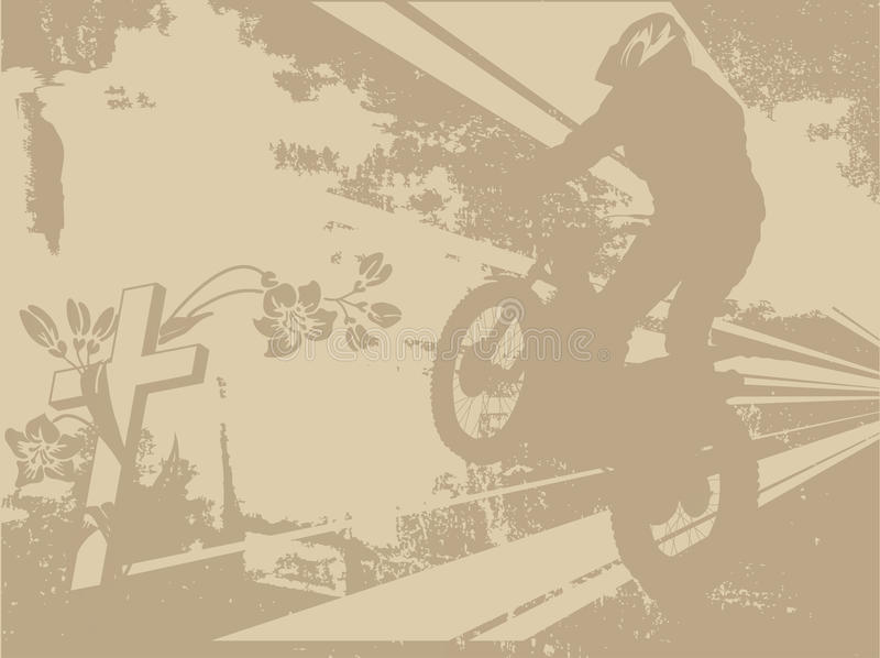 Motorbiker ilustração stock