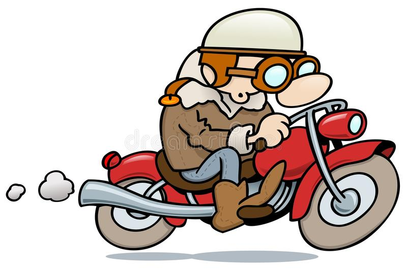 motorbiker rocznik ilustracja wektor
