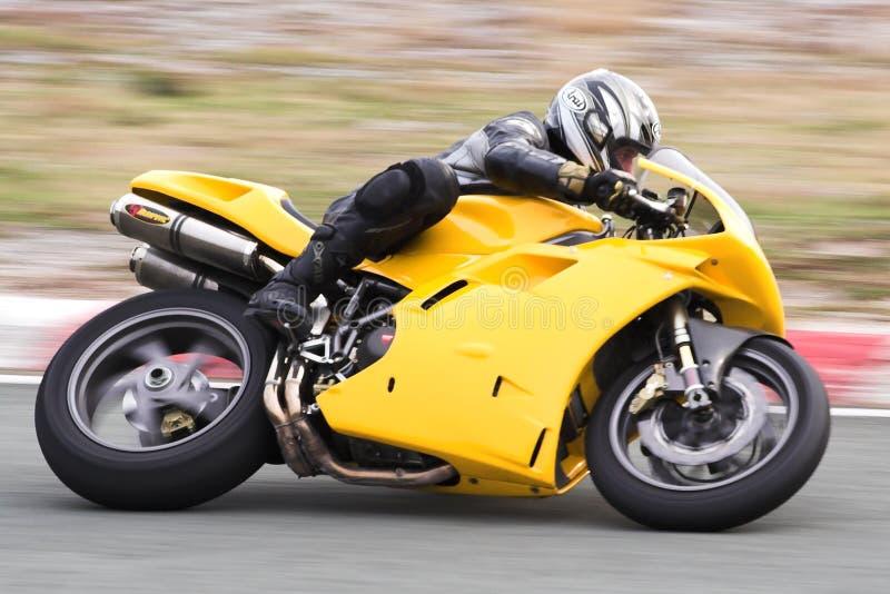 motorbikeracer royaltyfria bilder