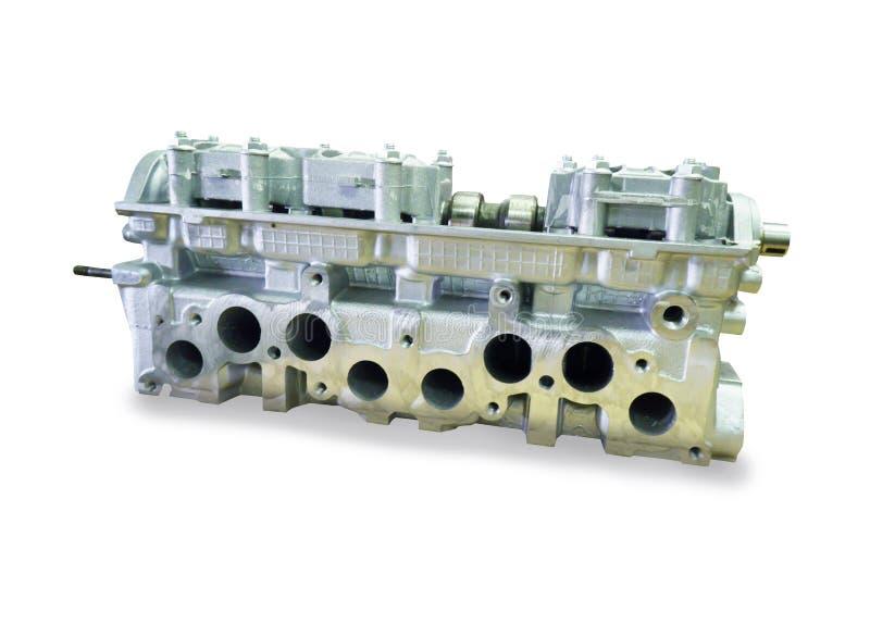 Motorblok met vier cilinders en vier kleppen royalty-vrije stock foto