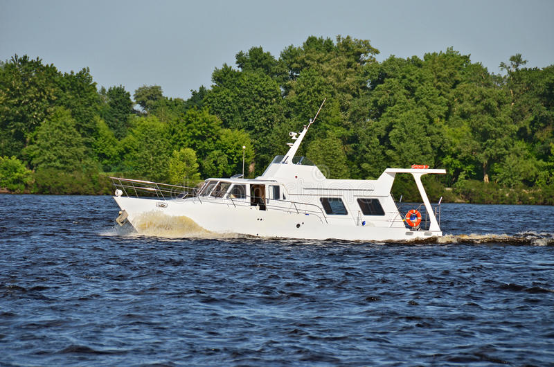 Download Motorboat stock image. Image of float, kyiv, ship, dnipro - 27029513
