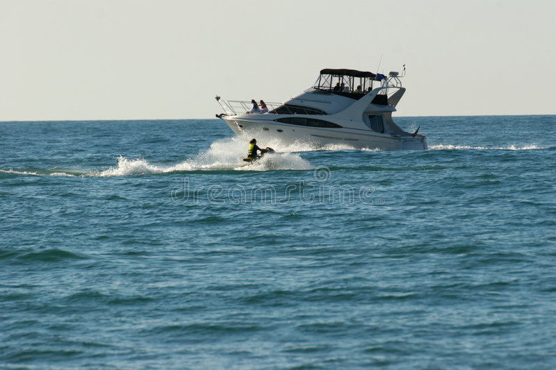 Motorboat 3 stock images