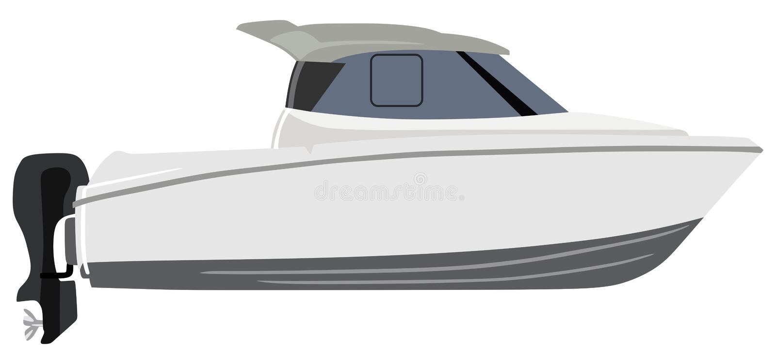 motorboat illustration stock