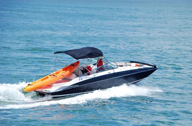 Motorboat desportivo pequeno fotografia de stock