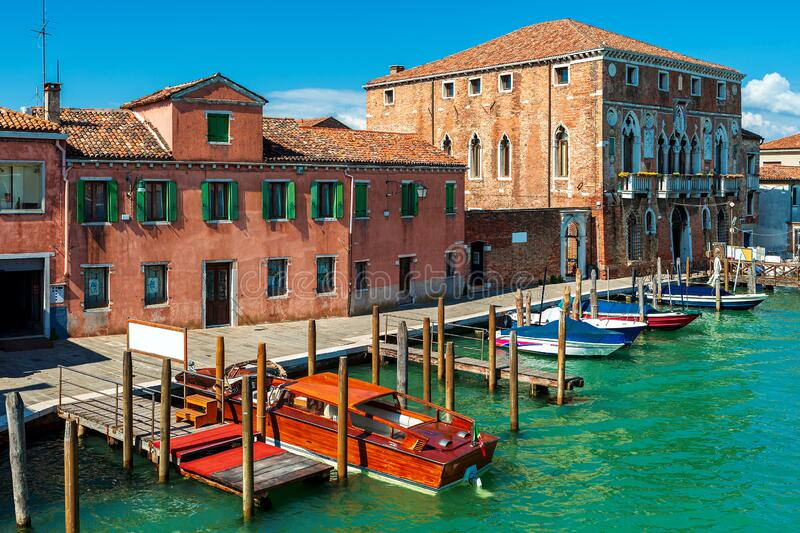 Typical view of Murano, Italy. stock image