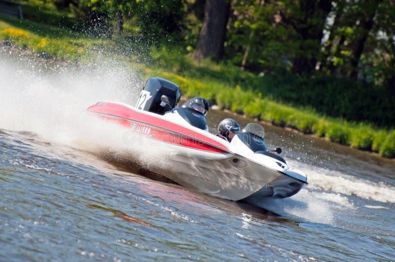 Motorboot in Actie royalty-vrije stock foto