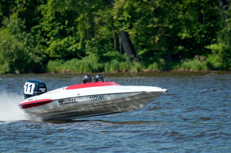 Motorboot in Actie stock afbeelding