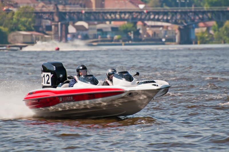 Motorboot in Actie stock foto's