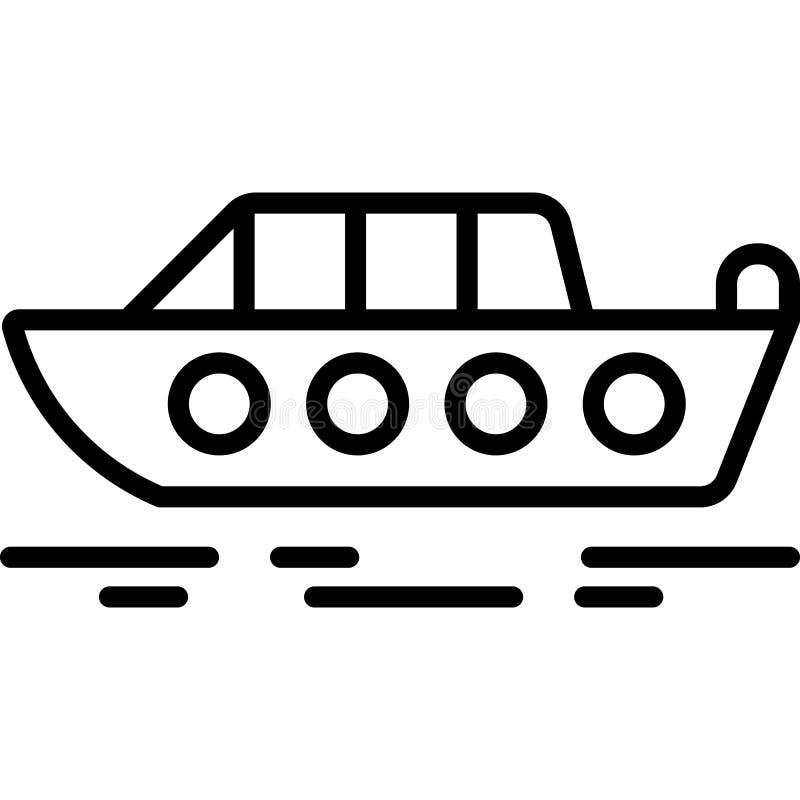 Motorboot-Ikonen-Vektor stock abbildung