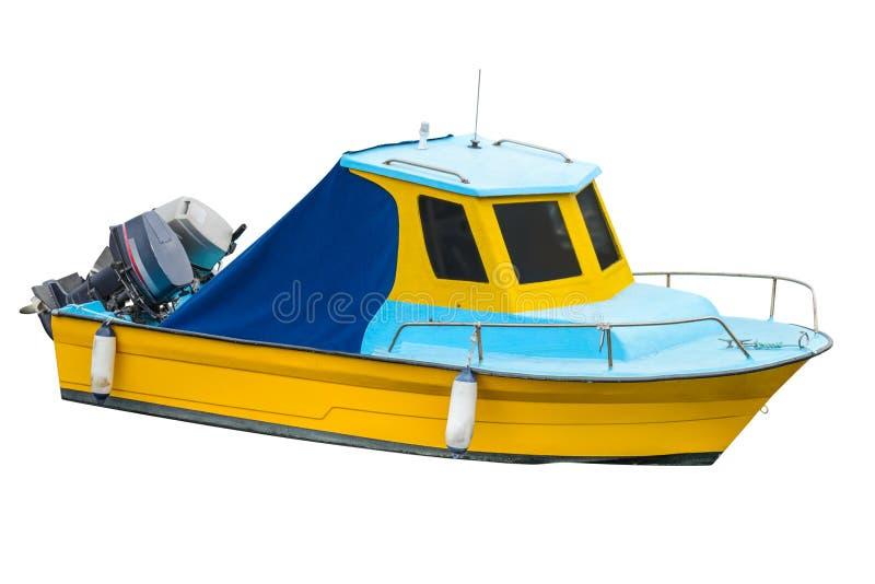 Motorboot lokalisiert auf einem weißen Hintergrund stockfoto