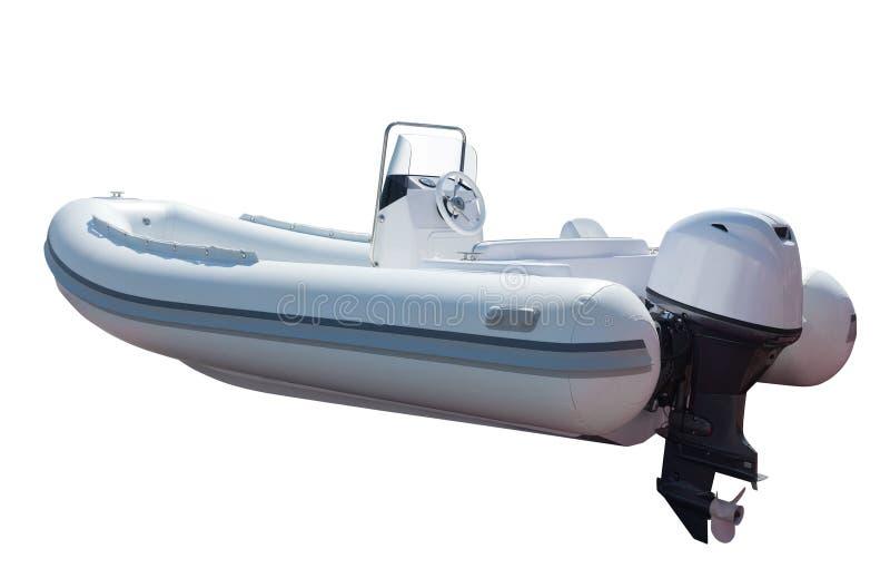 Motorboot met motor royalty-vrije stock afbeeldingen
