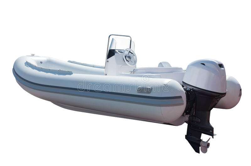 Motorboot mit Maschine lizenzfreie stockbilder