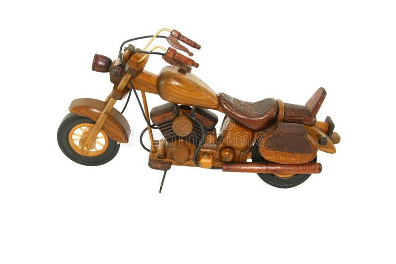 motorcicle drewniany zabawkarski zdjęcie royalty free