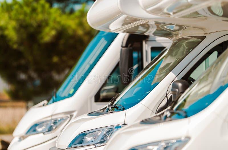 Motorcoaches RV для продажи стоковые изображения