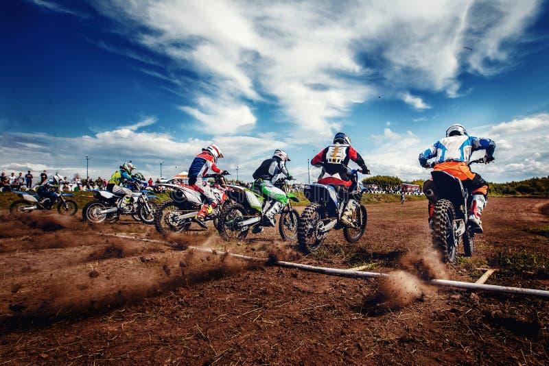 Motorcross arrête le vélo images stock