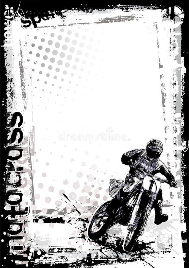 Download Motorcross background stock vector. Image of drop, poster - 14100421