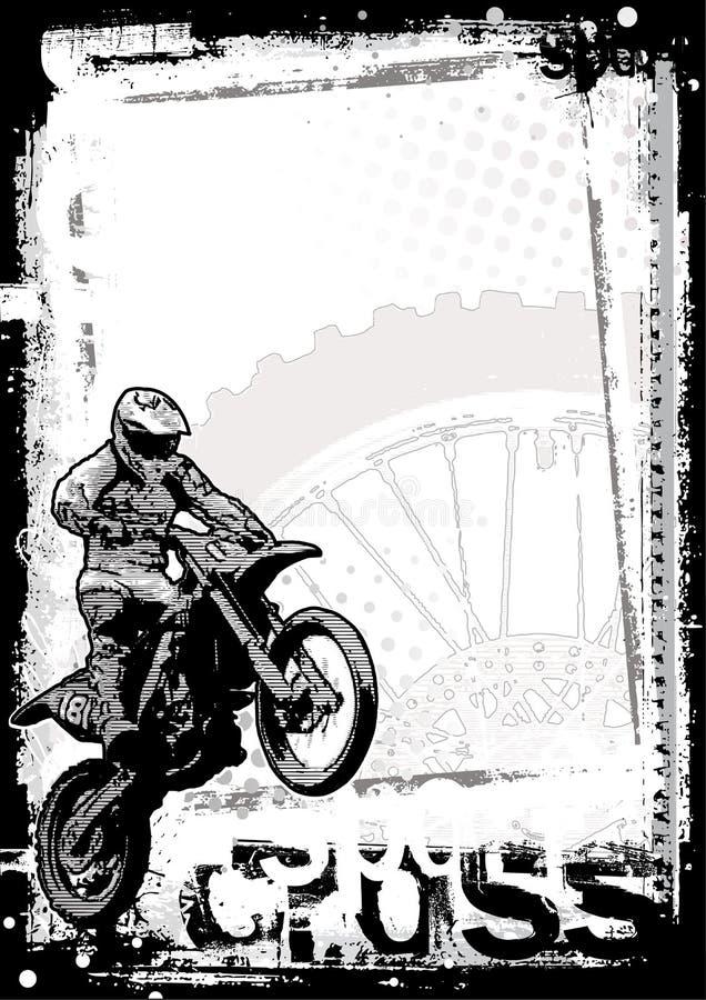Motorcross background stock illustration