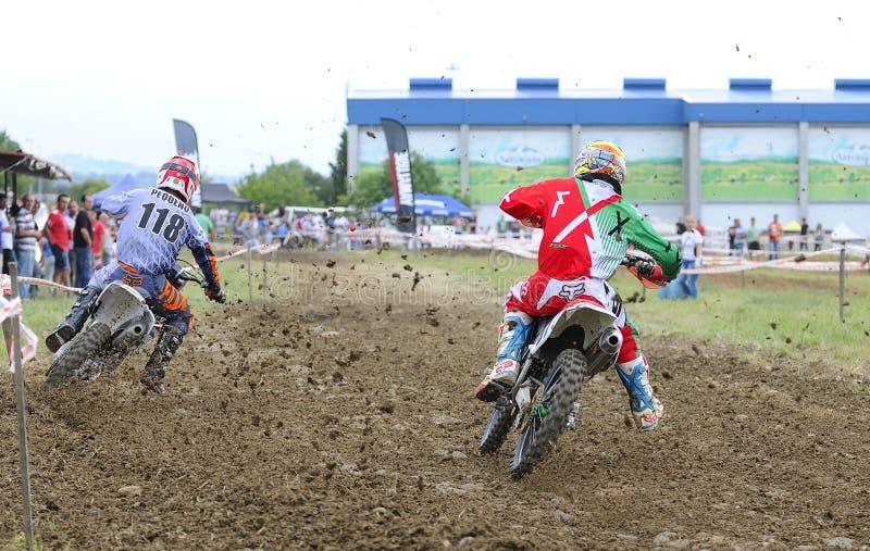 Motorcross no EL Berron, as Astúrias, spain foto de stock royalty free