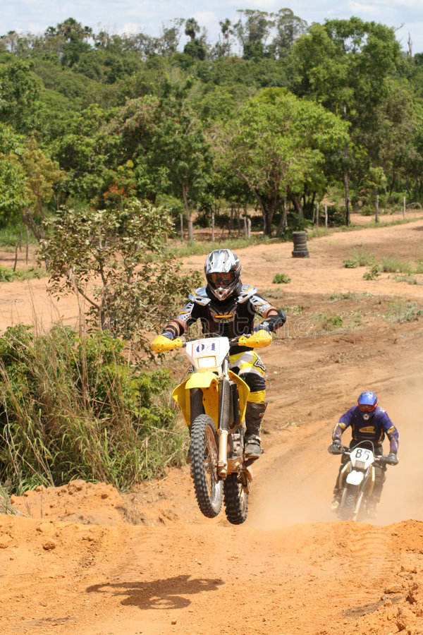 Free Motorcross Rider On Motorcycle In Race Stock Photo - 1500290