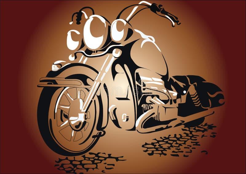 Motorcycl auf Straße stockfoto