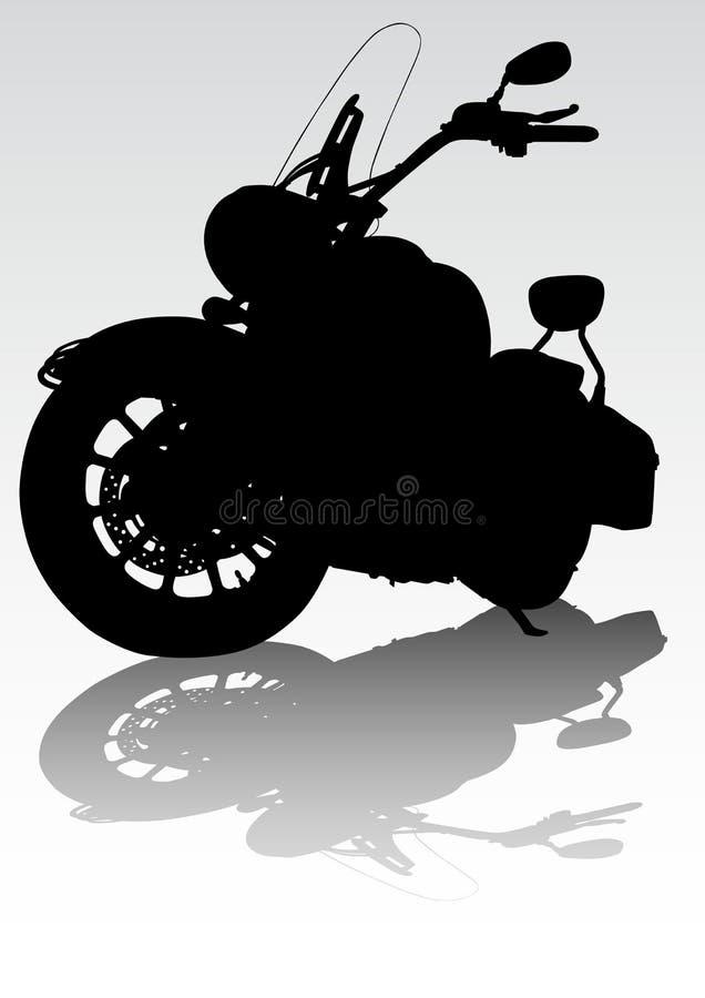 Motorcycl sur la route illustration de vecteur