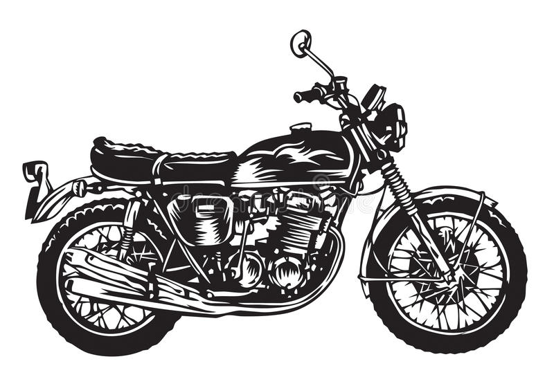 Download Motorcycle stock vector. Image of transportation, tour - 14856333
