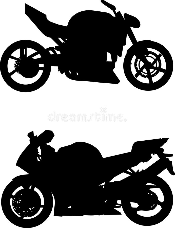 Motorcycle. Isolated motorcycle on a white background vector illustration
