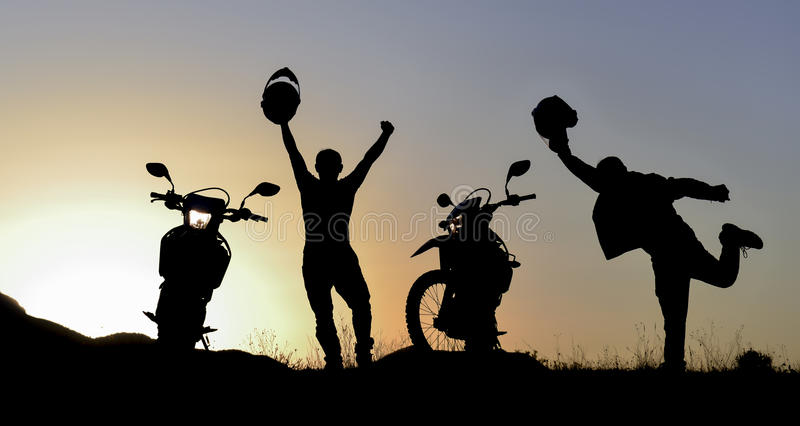 Motorcycle adventure royalty free stock image