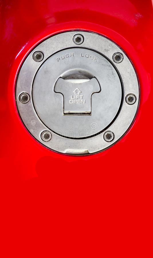 Motorcycle Aluminum Fuel Tank Gas Cap Door Cover stock images