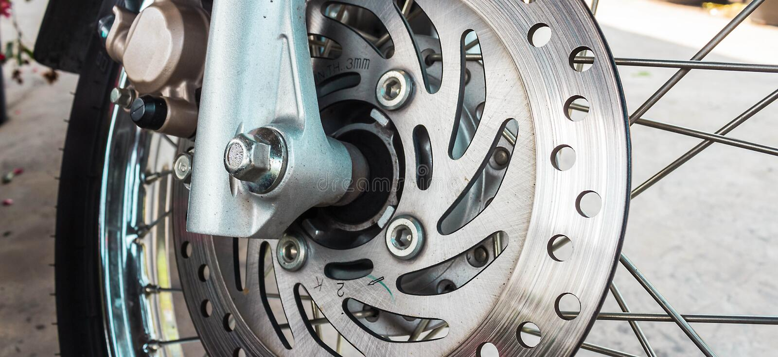 Motorcycle brakes. A general background royalty free stock photography