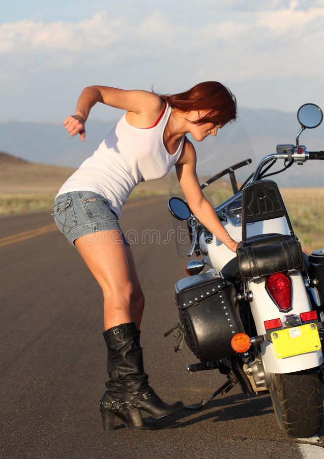 Download Motorcycle Breakdown Royalty Free Stock Images - Image: 25118459