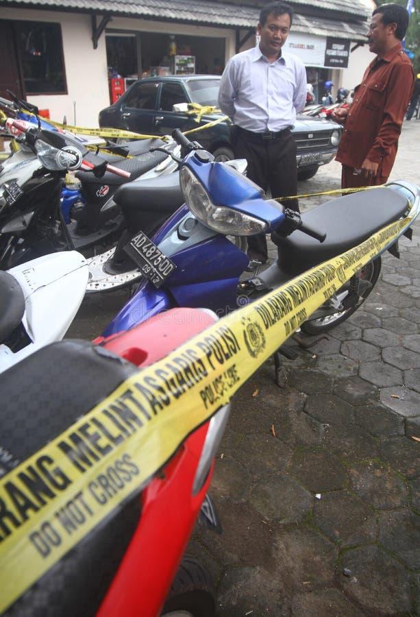 Motorcycle Burglary Editorial Photography