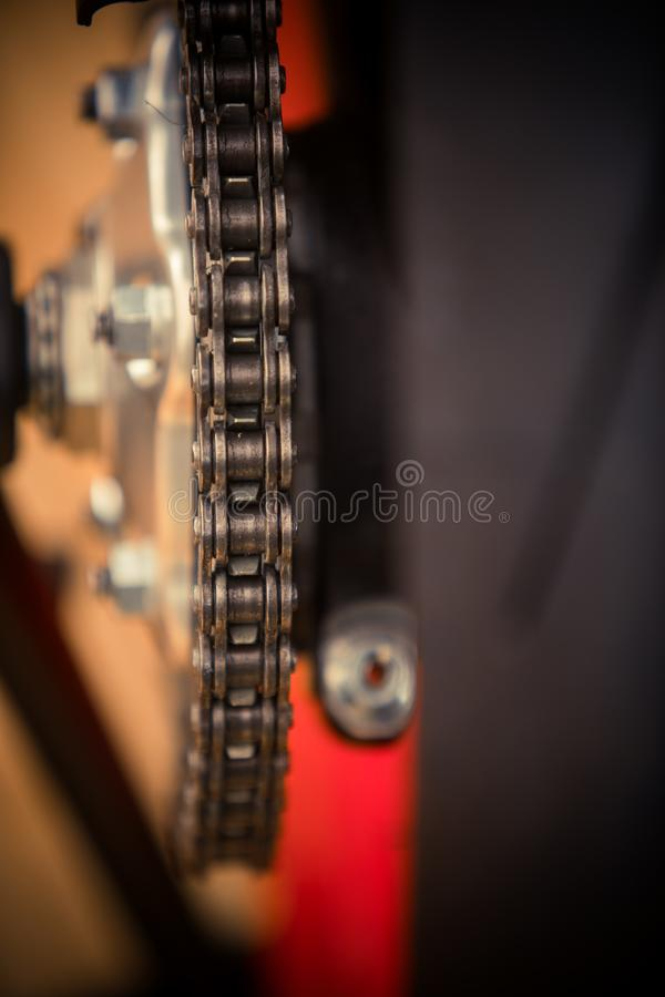 Motorcycle chain detail stock images